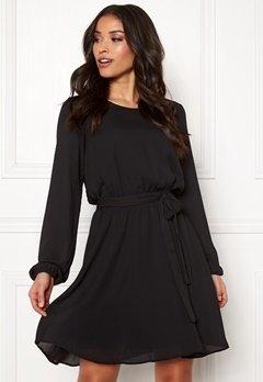 VILA Lucy L/S Dress Black Bubbleroom.eu