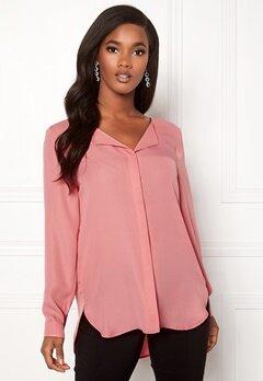 VILA Lucy L/S Shirt Brandied Apricot Bubbleroom.eu