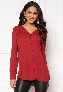 VILA Lucy L/S Shirt Scarlet Sage Bubbleroom.eu
