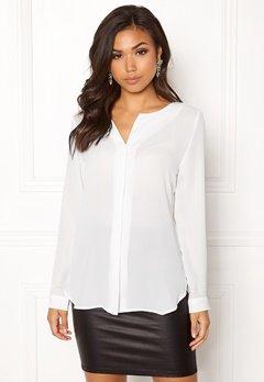VILA Lucy L/S Shirt White Bubbleroom.eu