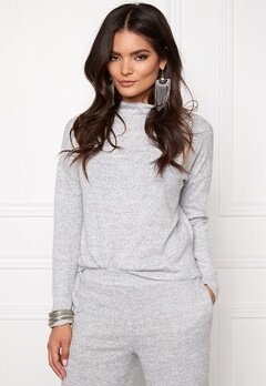VILA Lune Knit Top Light Grey Melange Bubbleroom.eu