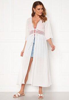 VILA Lupine Long S/S Coverup Dress Cloud Dancer Bubbleroom.eu
