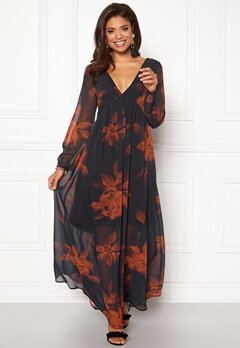 VILA Melaki 3/4 Sleeve Dress Black Bubbleroom.eu