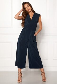 VILA Melis S/L Drapped Jumpsuit Total Eclipse Bubbleroom.eu