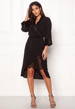 VILA Milena Lace 3/4 Dress Black Bubbleroom.eu