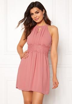 VILA Milina Halterneck Dress Brandied Apricot Bubbleroom.eu