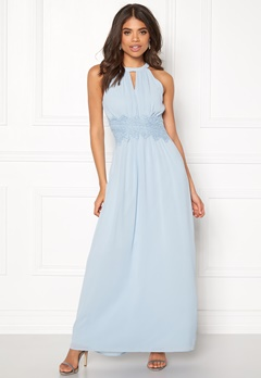 VILA Milina Halterneck Dress Celestial Blue Bubbleroom.eu