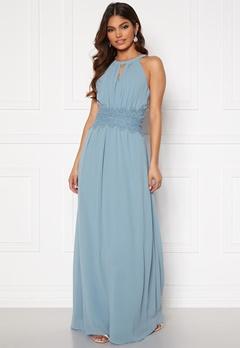 VILA Milina Maxi Dress Ashley Blue Bubbleroom.eu