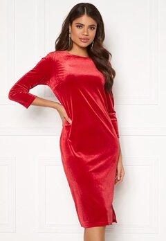 VILA Minny Velvet Dress Scarlet Sage Bubbleroom.eu