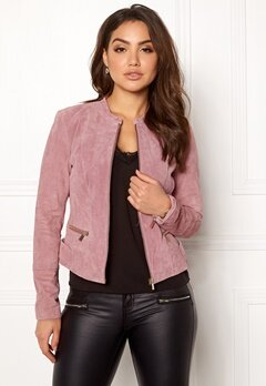 VILA Miss Suede Jacket Ash Rose Bubbleroom.eu