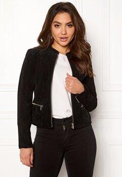 VILA Miss Suede Jacket Black Bubbleroom.eu