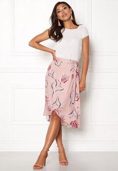 VILA Nandi Wrap Midi Skirt Adobe Rose Bubbleroom.eu