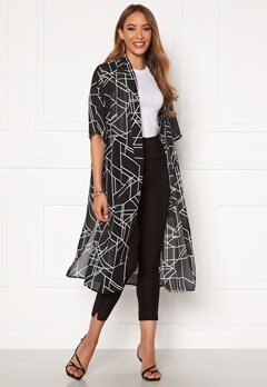 VILA Nema 3/4 Aop Cover Up Black Aop Bubbleroom.eu