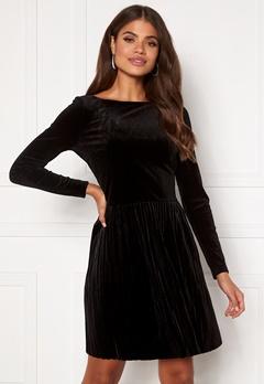 VILA Oelle Boatneck 3/4 Sleeve Dress Black Bubbleroom.eu