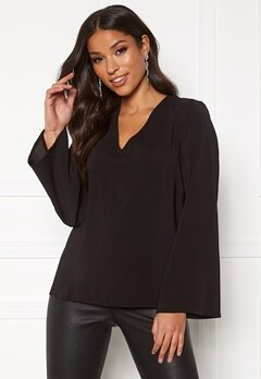 VILA Palla L/S Sleeve Top Black Bubbleroom.eu
