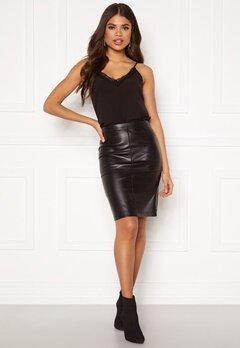 VILA Pen New Skirt Black Bubbleroom.eu