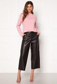VILA Pen RWRX Cropped Coated Pants Black Bubbleroom.eu