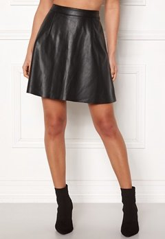 VILA Pen Skater Skirt Black Bubbleroom.eu