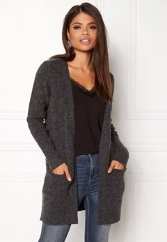 VILA Place Knit Cardigan Dark Grey Melange Bubbleroom.eu