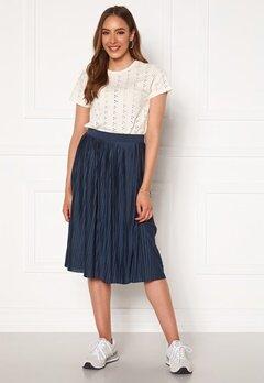 VILA Pliss Midi Skirt Navy Blazer Bubbleroom.eu