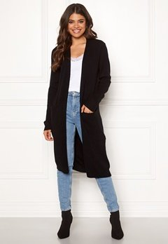 VILA Ril Long Knit Cardigan Black Bubbleroom.eu