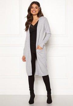 VILA Ril Long Knit Cardigan Light Grey Melange Bubbleroom.eu