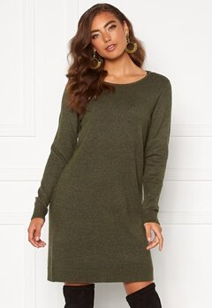 VILA Ril L/S Knit Dress Forest Night Bubbleroom.eu