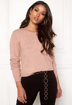 VILA Ril L/S O-neck Knit Top Black Bubbleroom.eu