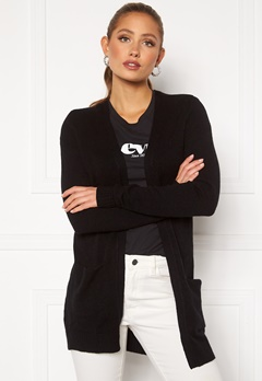VILA Ril Open Knit Cardigan Black Bubbleroom.eu