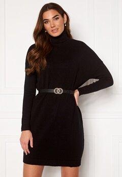 VILA Ril Rollneck L/S Knit Tunic Black Bubbleroom.eu