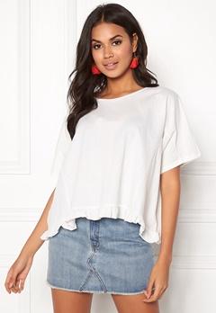 VILA Rose S/S T-shirt Cloud Dancer Bubbleroom.eu