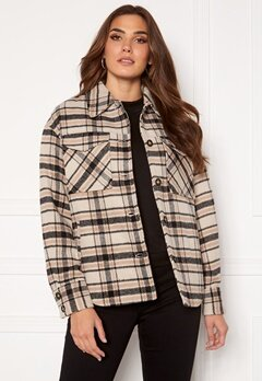 VILA Rubi Check Shirt Jacket Birch Checks Bubbleroom.eu