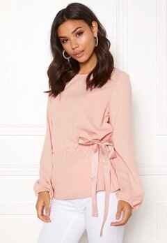 VILA Sarina L/S Top Rose Smoke Bubbleroom.eu
