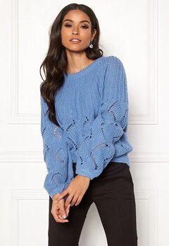 VILA Satira Knit O-Neck Top Ultramarine Bubbleroom.eu