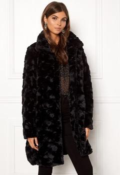 VILA Seria Coat Black Bubbleroom.eu