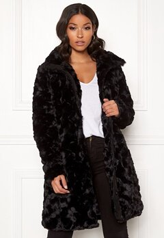 VILA Seria Coat Black Bubbleroom.eu