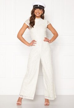 VILA Shayle Capsleeve Jumpsuit Cloud Dancer Bubbleroom.eu