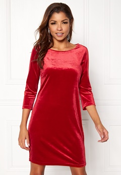 VILA Sienna 3/4 Sleeve Dress Scarlet Sage Bubbleroom.eu