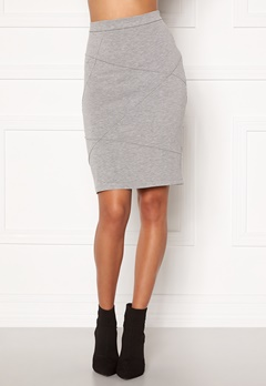 VILA Sif New Pencil Skirt Light Grey Melange Bubbleroom.eu