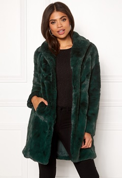 VILA Softa Faux Fur Coat Pine Grove Bubbleroom.eu
