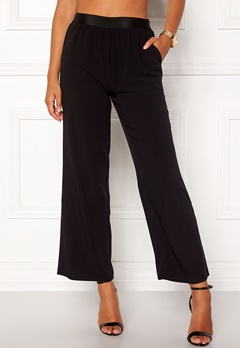 VILA Split Flared Pants Black Bubbleroom.eu