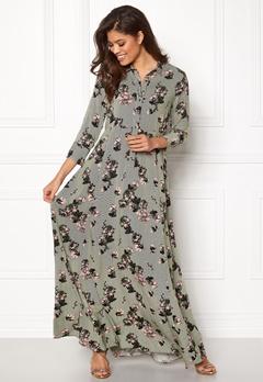 VILA Valene 3/4 Sleeve Maxi Dress Chive Bubbleroom.eu