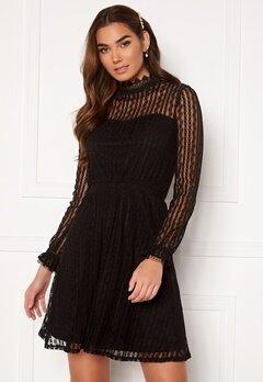 VILA Vesra L/S Lace Dress Black Bubbleroom.eu