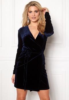 VILA Vivelvetine short dress/1 Total Eclipse Bubbleroom.eu