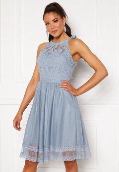 VILA Zinna New S/L Dress Ashley Blue Bubbleroom.eu