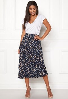 Pieces Viola Midi Skirt Navy Blazer Bubbleroom.eu