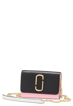 Marc Jacobs Wallet On Chain Black Baby Pink Bubbleroom.eu