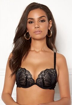 Wonderbra Glamour Full Effect Bra Black Bubbleroom.eu