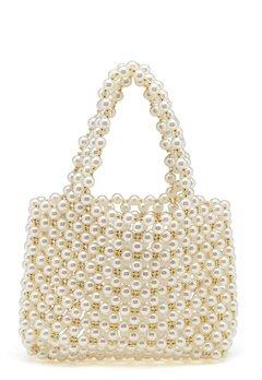 WOS Britney Pearl Bag Vit Bubbleroom.eu