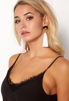 WOS Gloria Tassels Earrings Pink/Black Bubbleroom.eu